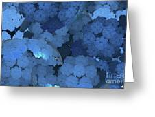 Blue Fungi Greeting Card