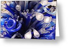Blue Glass Abstract Greeting Card