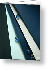 Blue Glass And Paper Greeting Card