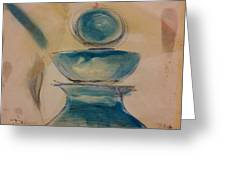 Blue Glass Greeting Card