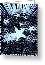 Blue Glow Starry Abstract Greeting Card