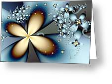 Blue Gold 4 Greeting Card