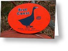Blue Goose Greeting Card