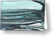 Blue Gray Brush Strokes Abstract Art For Interior Decor V Greeting Card