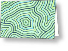 Blue Green Pattern Play Greeting Card