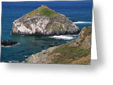 Blue Green Seas - Highway One Greeting Card