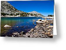 Blue Green Treasure Lake Greeting Card