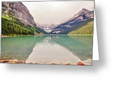 Blue-green Waters Of Lake Louise Greeting Card