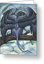Blue Griffin Greeting Card