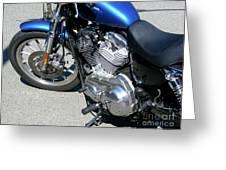 Blue Harley Greeting Card