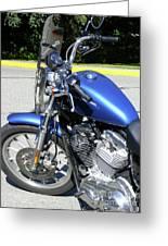 Blue Harley One Greeting Card