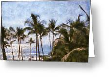 Blue Hawaii Greeting Card