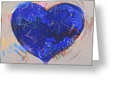 Blue Heart 126 Greeting Card