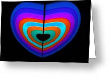 Blue Heart Greeting Card