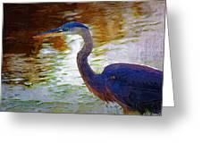 Blue Heron 2 Greeting Card