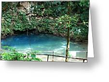 Blue Hole National Park Greeting Card