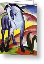 Blue Horse I 1911 Greeting Card