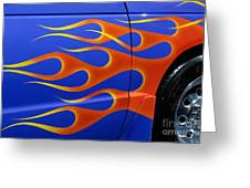Blue Hot Rod Closeup Greeting Card