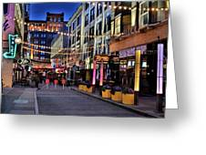 Blue Hour At East Fourth Greeting Card