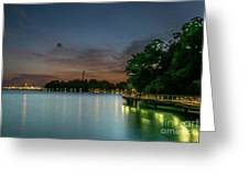 Blue Hour Harbourfront Singapore Greeting Card