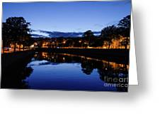 blue hour in Cork Greeting Card