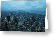 Blue Hour In New York Greeting Card