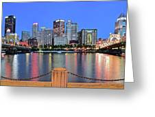 Blue Hour In The Steel City Greeting Card