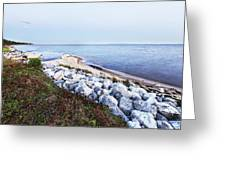Blue Hour On Choctawhatchee Bay Greeting Card