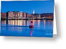Blue Hour Over Portsmouth New Hampshire Greeting Card