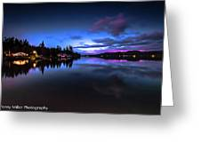 Blue Hour Reflected Greeting Card