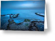 Blue Hour Sunset Greeting Card