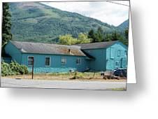 Blue House In Hamilton Greeting Card