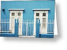 Blue Curacao House Greeting Card