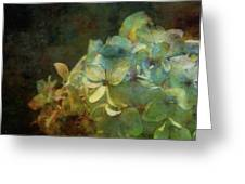 Blue Hydrangea Sunset Impression 1203 Idp_2 Greeting Card
