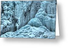 Blue Ice Flows At Tangle Falls Greeting Card