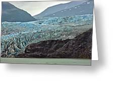 Blue Ice In Fog Greeting Card