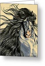 Blue Ice - Mustang Greeting Card