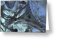 Blue Ice Pond 1  Greeting Card