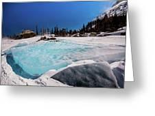 Blue Ice Sheet - Lake Hiayaha Greeting Card