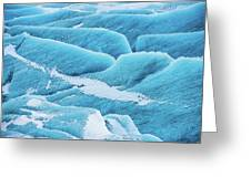 Blue Ice Svinafellsjokull Glacier Iceland Greeting Card
