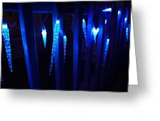 Blue Icicles Greeting Card