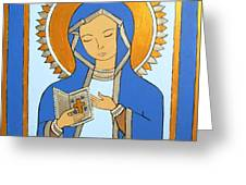 Blue Icon Greeting Card
