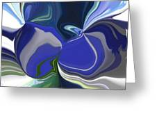 Blue Impression Greeting Card
