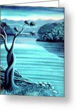 Blue In Marlborough Nz Greeting Card by Barbara Stirrup