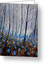 Blue In The Wood Greeting Card