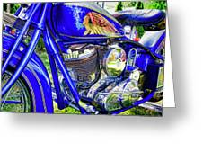 Blue Indian Greeting Card