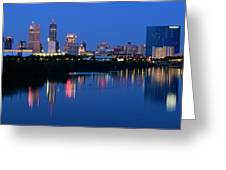 Blue Indianapolis Greeting Card
