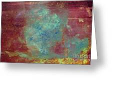 Blue Iron Texture Painting Greeting Card