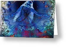 Blue Jogini Greeting Card