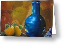 Blue Jug On The Shelf Greeting Card
